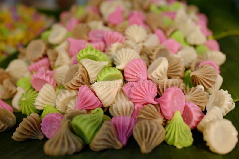Der thailändische Nachtisch - mehrfarbige Süßigkeiten stockfotografie