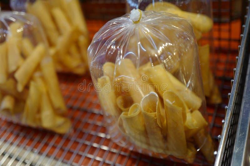 Der thailändische Nachtisch - Kokosnussoblaten stockfotografie