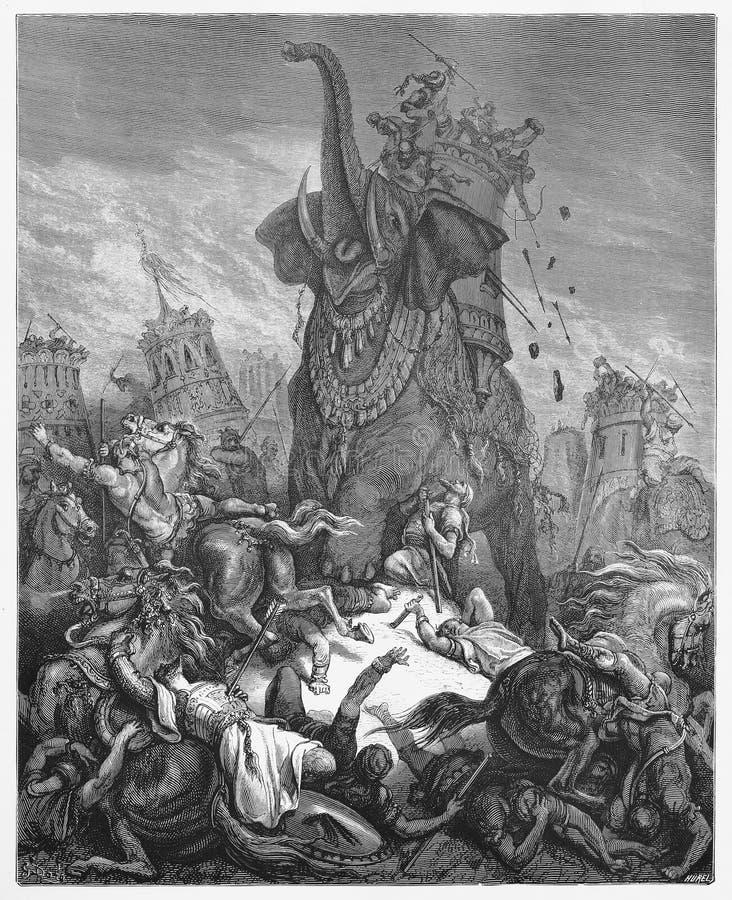 Der Tod von Eleazar stock abbildung