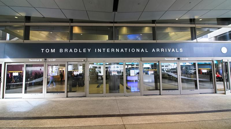 Der Tom Bradley International Terminal TBIT stockbilder