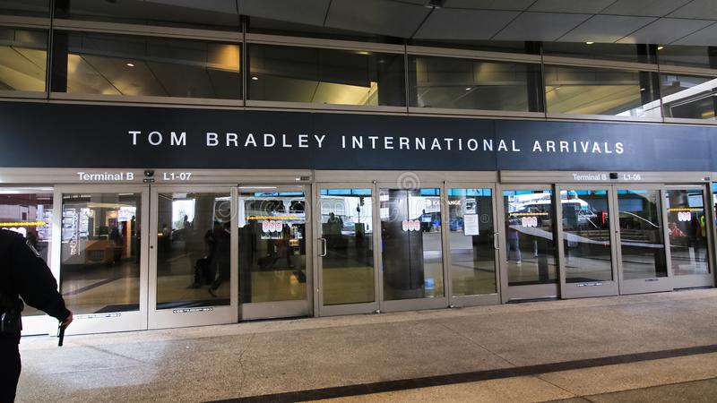 Der Tom Bradley International Terminal TBIT lizenzfreies stockbild