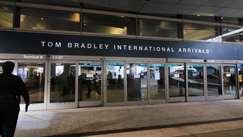 Der Tom Bradley International Terminal TBIT lizenzfreie stockfotos