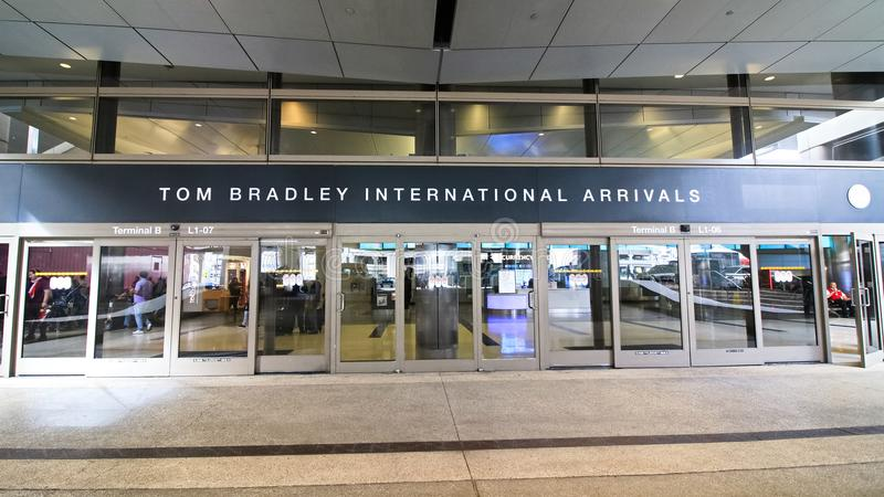 Der Tom Bradley International Terminal TBIT lizenzfreie stockbilder