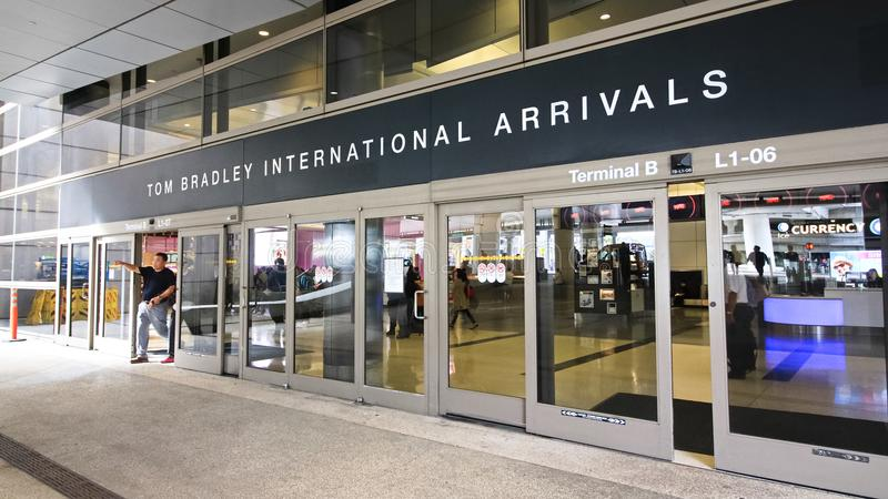 Der Tom Bradley International Terminal TBIT stockfoto