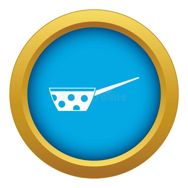 Der Topf mit weißen Punkten und behandeln blauen Vektor der Ikone lokalisiert lizenzfreie abbildung
