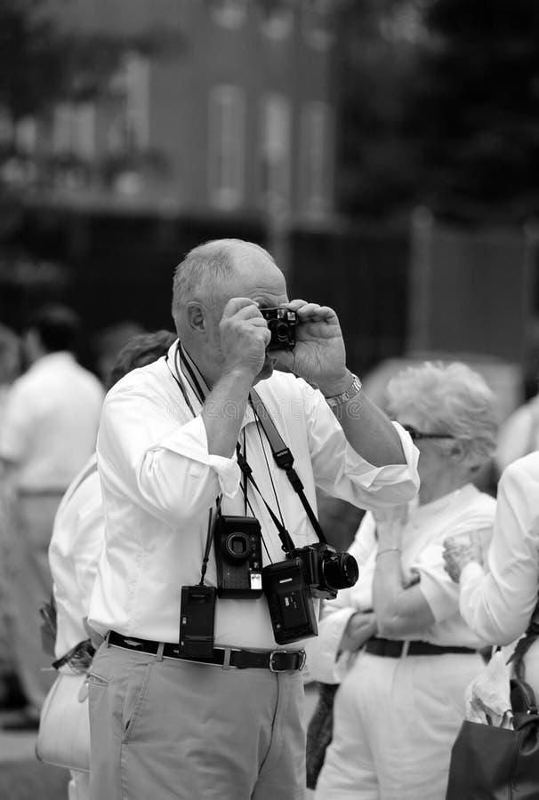 Der Tourist lizenzfreies stockfoto