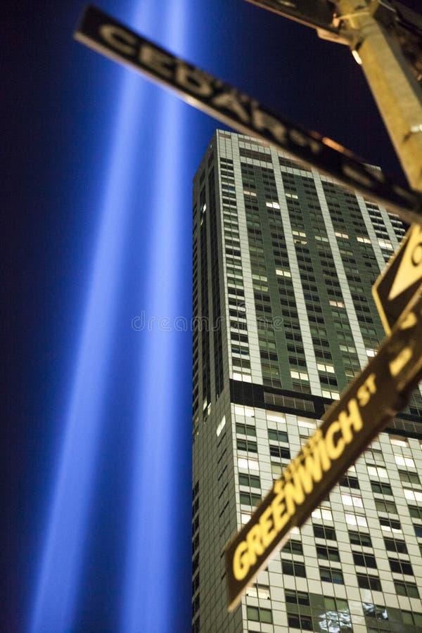 Der Tribut im Licht, New York stockbilder