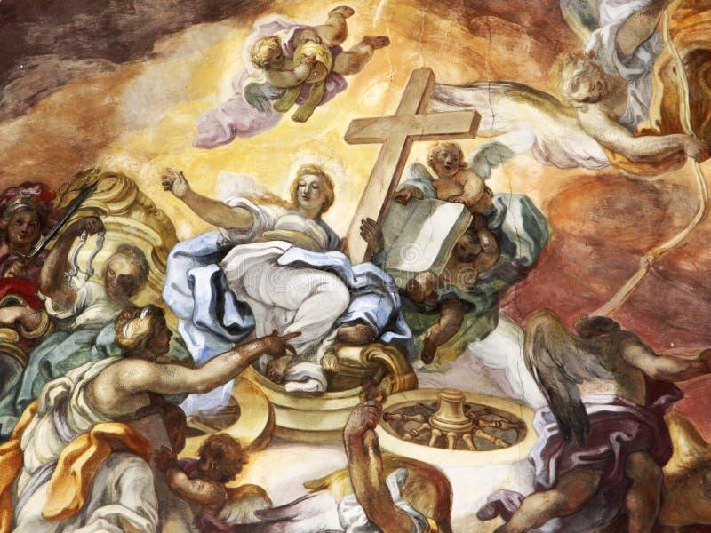 Der Triumph der christlichen Religion, Fresko lizenzfreies stockbild