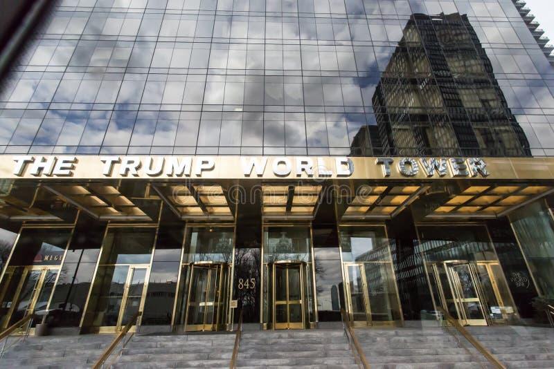 Der Trumpf-Weltturm lizenzfreies stockfoto