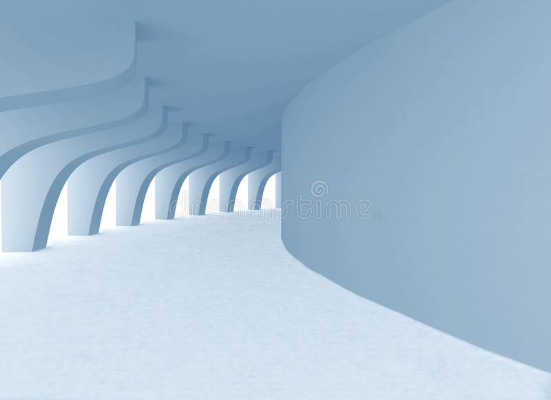 Der Tunnel mit Bogen stock abbildung
