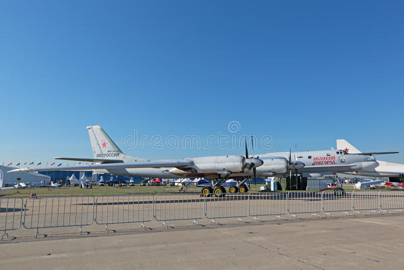 Der Tupolev Tu-95 stockbilder