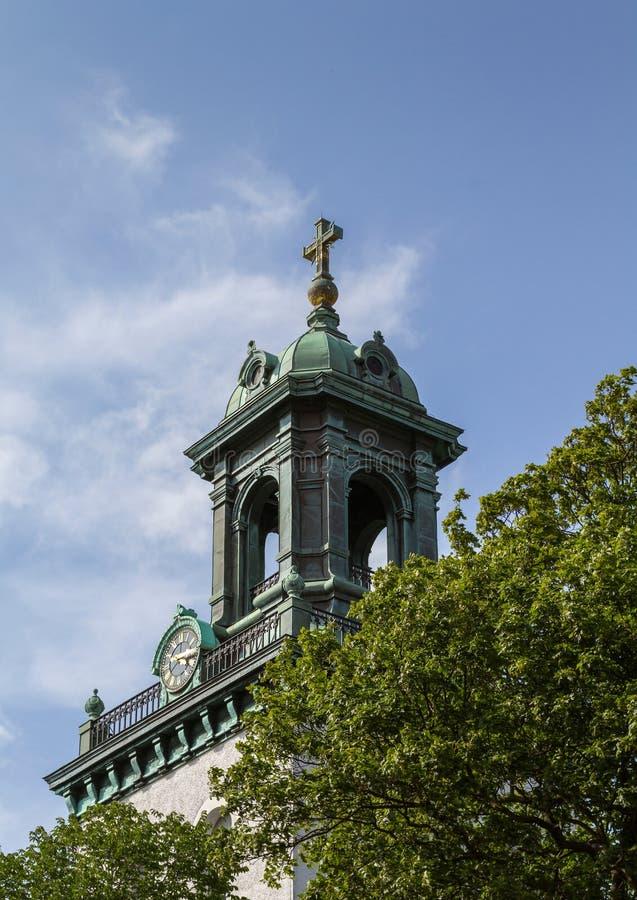 Der Turm von Carl Johans-Kirche in Gothenburg Schweden stockfotos