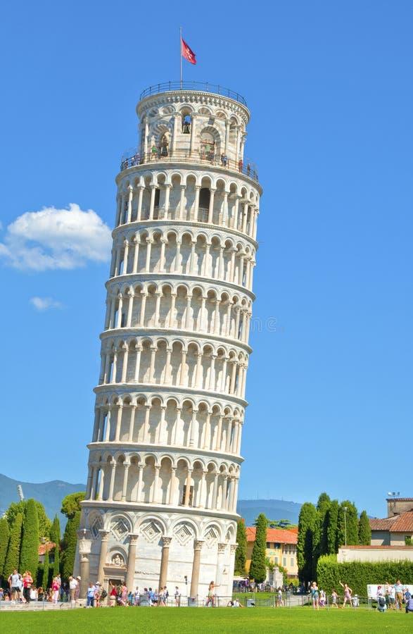 Der Turm von Pisa lizenzfreies stockfoto