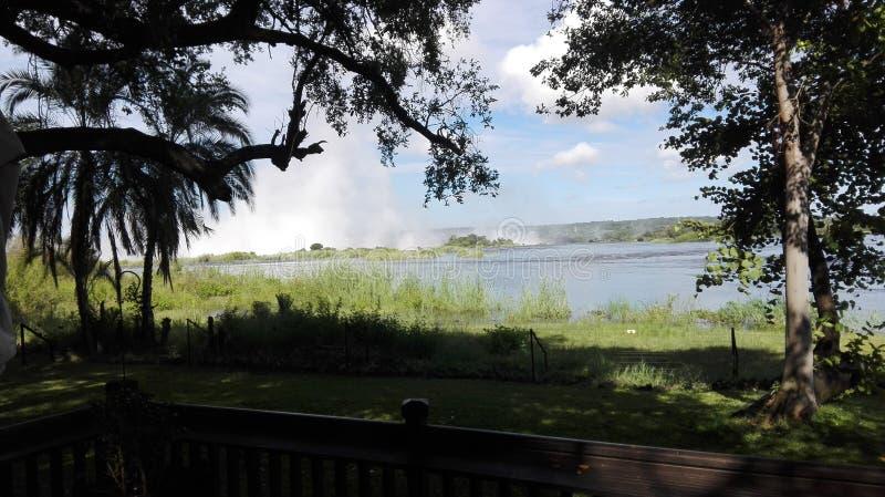 Der Ufergegend-Sambesi-Sambia stockbild