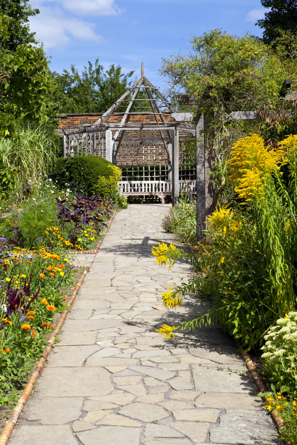 Der ummauerte Garten in Brockwell-Park, Brixton. lizenzfreie stockbilder