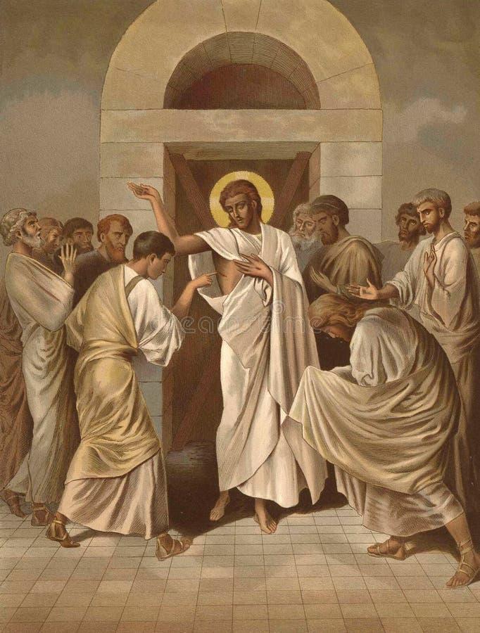 Der Unglaube des Apostels Thomas lizenzfreie abbildung