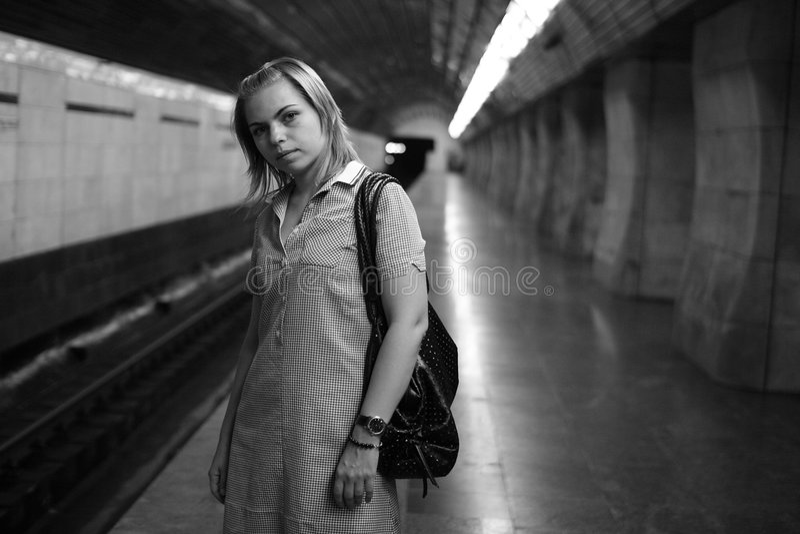 In der Untergrundbahn lizenzfreie stockfotos