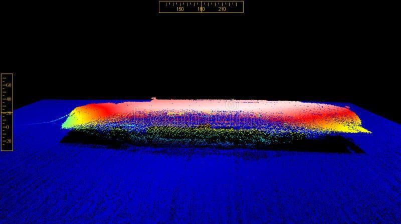 An der Unterseite des Meeres lizenzfreies stockbild