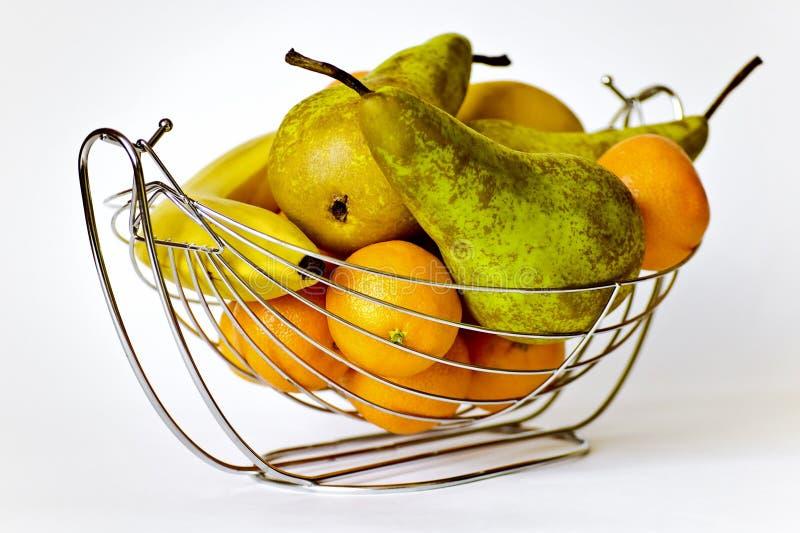 Der Vase mit Frucht. lizenzfreie stockfotos