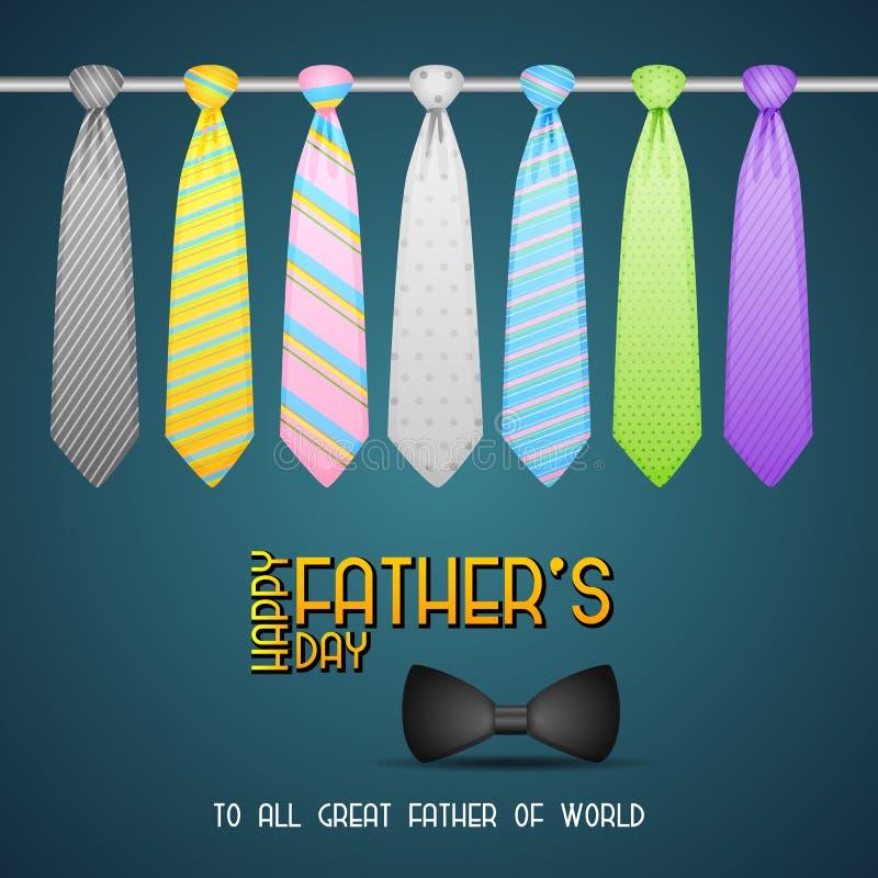 Der Vatertags-Hintergrund mit Bindung lizenzfreie abbildung