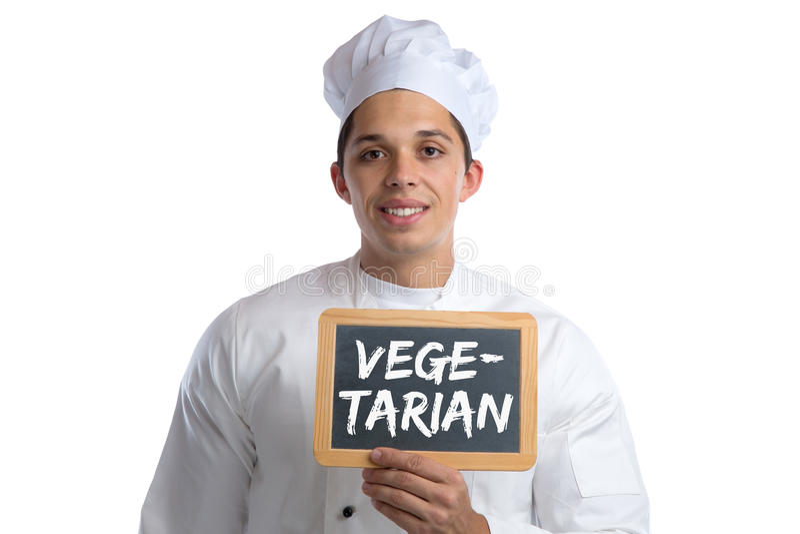 Der vegetarische Lebensmittelkoch, der Gemüse der gesunden Ernährung kocht, verschalen Sig lizenzfreies stockfoto