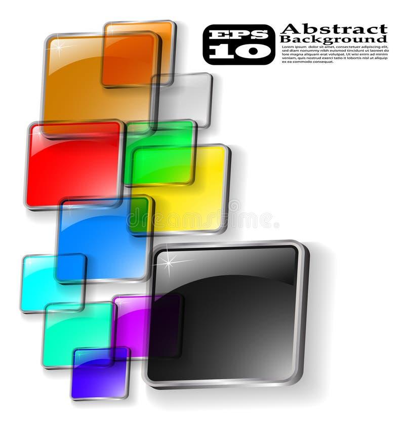 Der vektorauszugs-Farbenhintergrund lizenzfreie abbildung