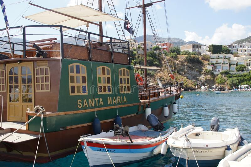 Der venetianische Hafen - Rethymnom - Crète stockbilder