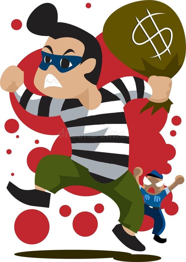 Der Verbrecher vektor abbildung