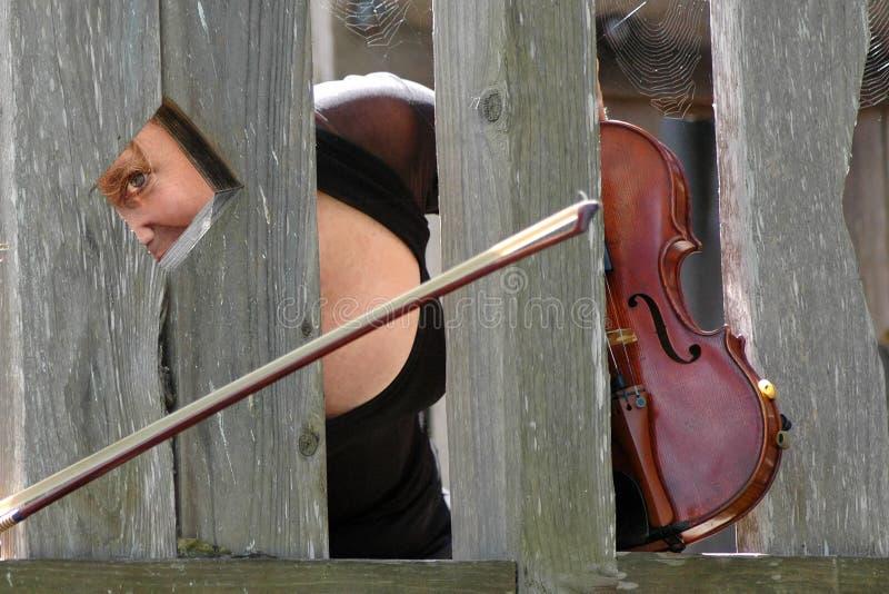 Der verrückte Violinist!! stockbilder