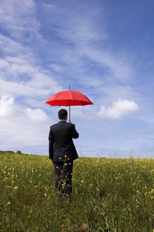 Der Versicherungsagent stockfotos
