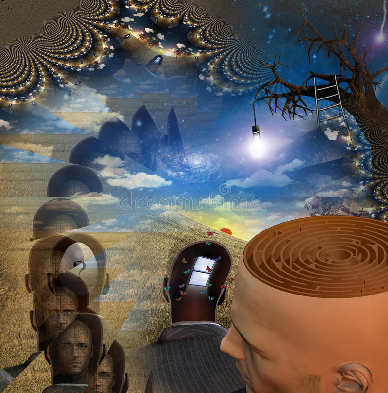 Der Verstand lizenzfreie abbildung