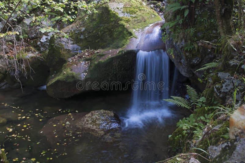 Der versteckte Wasserfall lizenzfreie stockfotos
