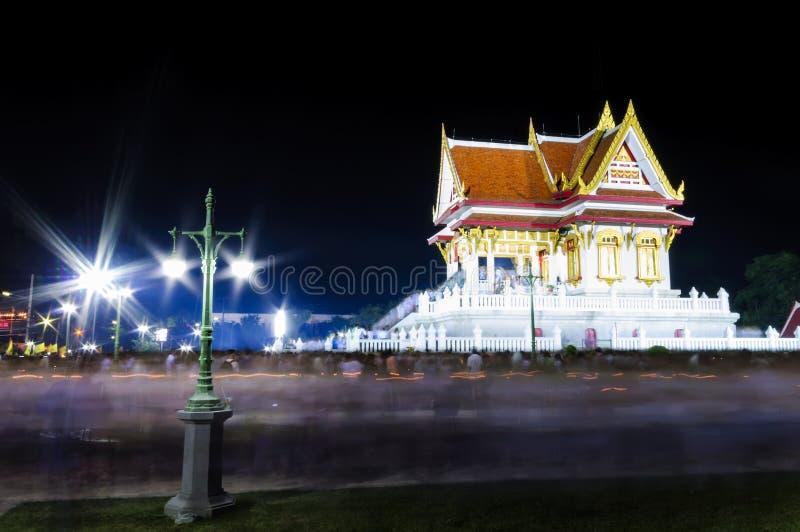 Der vesak Tag in Thailand stockfotos