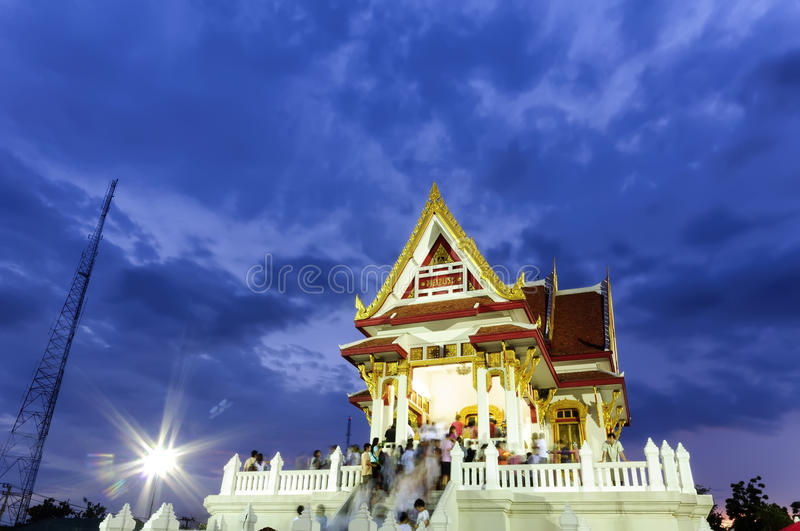 Der vesak Tag in Thailand stockfoto