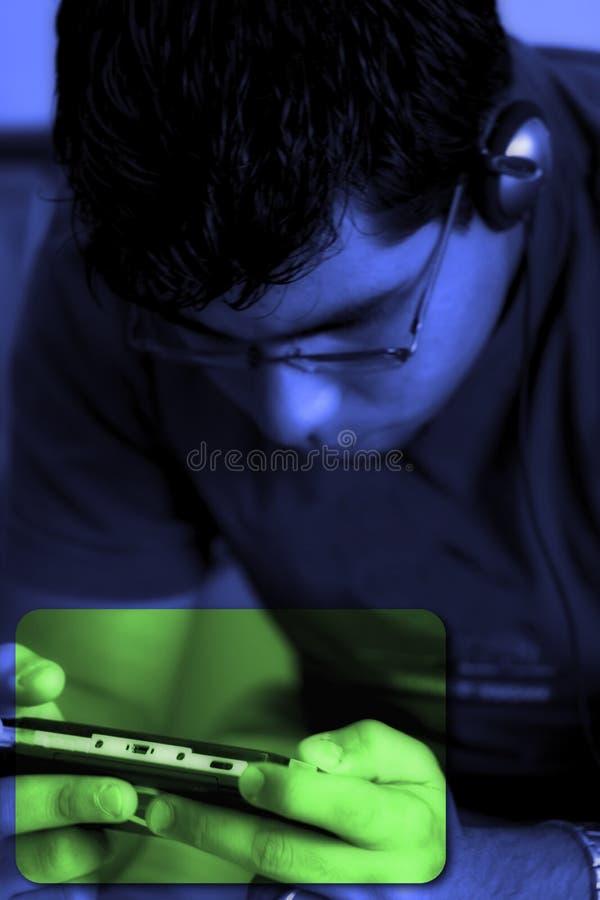 Download Der Videospiel-Spieler stockfoto. Bild von station, controller - 150882