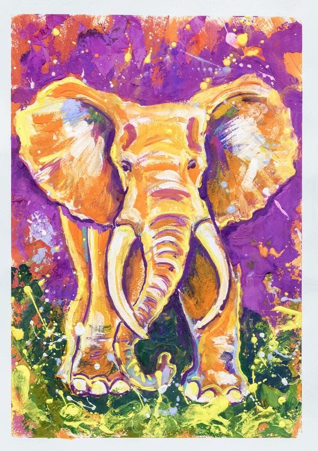 Der violette Elefant vektor abbildung