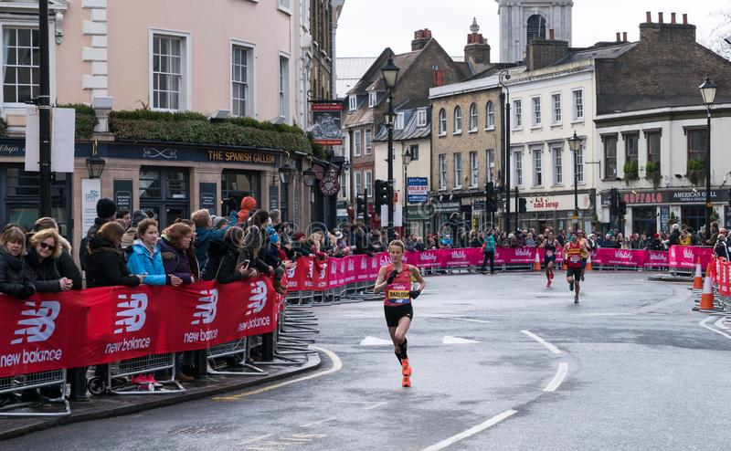 Der Vitalitäts-große Halbmarathon in London stockfotos