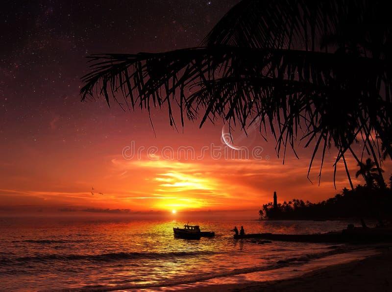 Der vollkommene Sonnenuntergang lizenzfreie abbildung