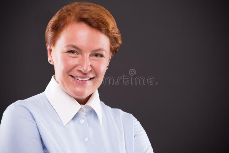Der von mittlerem Alter Gesichtsnahaufnahme Frau stockfoto