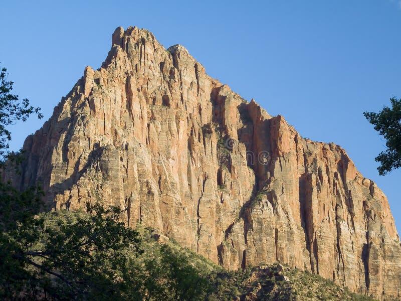 Der Wächter, Zion Nationalpark, Utah lizenzfreie stockfotografie