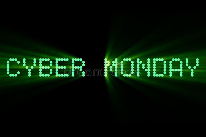 der Wörter Cyber-Montag-Verkauf, sind Sie vorbereiten die Frage und erscheinen lizenzfreie abbildung