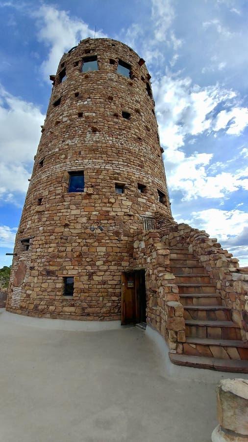 Der Wachturm am Osteingang der Südkante an Nationalpark Grand Canyon s stockfoto