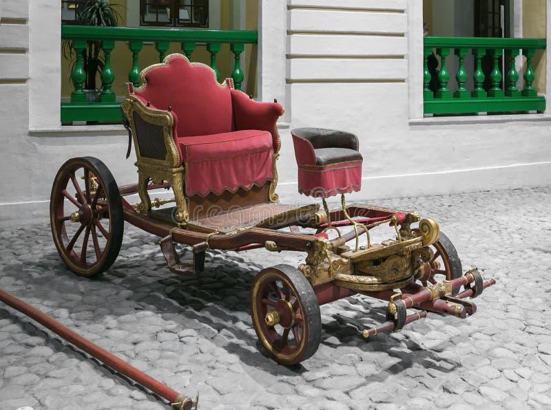 Der Wagen des russischen Kaisers Peter der Große stockfoto