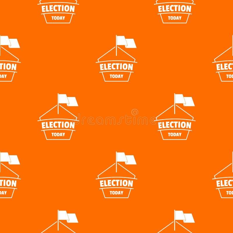 Der Wahl Muster-Vektororange heute stock abbildung