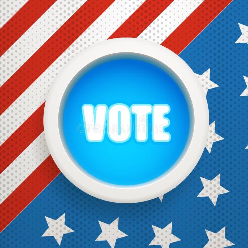 Der Wahltag lizenzfreie abbildung