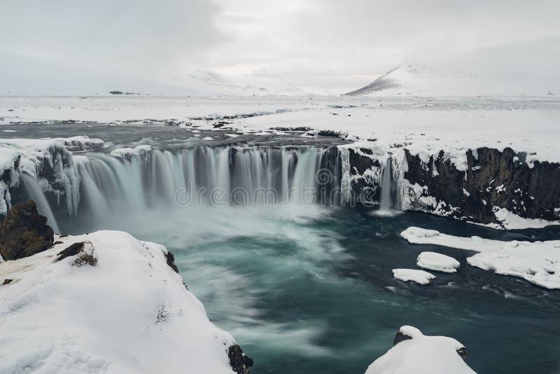Der Wasserfall in Island stockfotografie