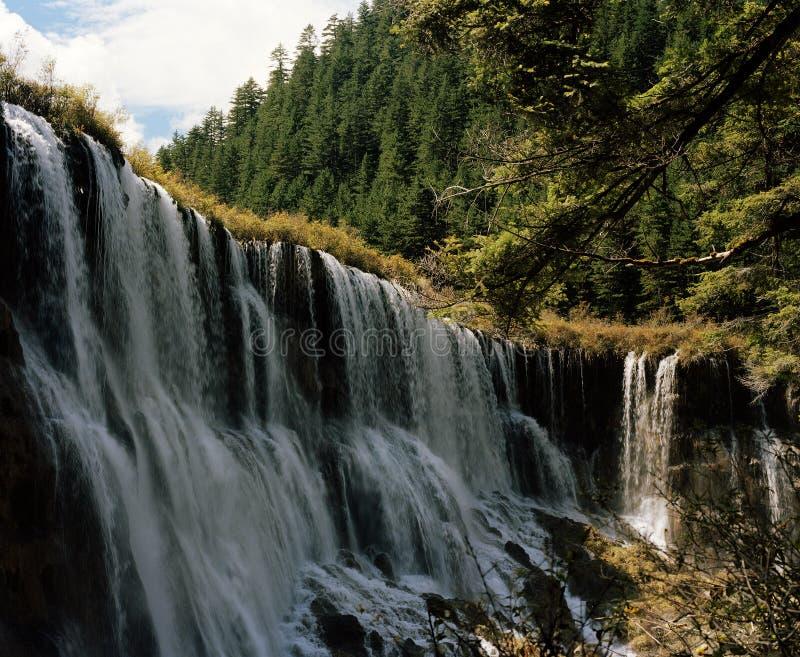 Der Wasserfall von jiuzhaigou, Sichuan lizenzfreie stockfotografie