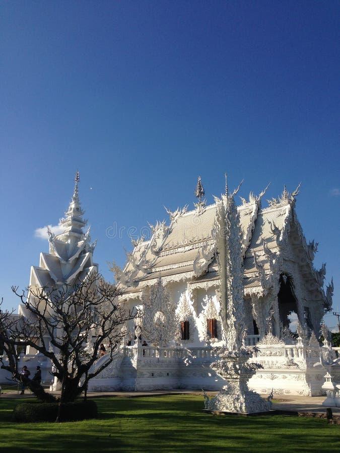 Der weiße Tempel bei Chiang Rai stockfotos