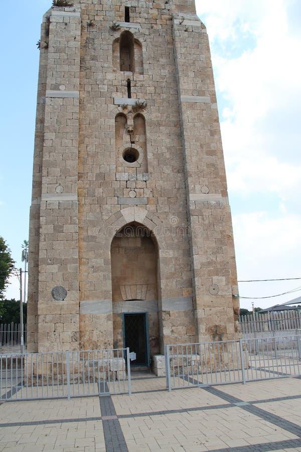 Der weiße Turm, Ramla, Israel stockbild