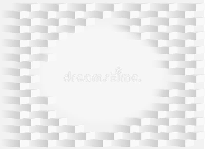 Der weißen symmetrische Beschaffenheit Ziegelstein-Zusammenfassung des Hintergrundes stock abbildung